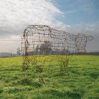 Pink Floyd - Atom Heart Mother - Wire Cow.  check stock. by StormStudios (after Thorgerson) Storm Thorgerson