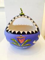 Blue Calabash Dish by Theresa  Edwards