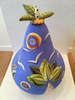 Blue Gourd Sculpture  by Theresa  Edwards