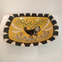 Large Black Bird Rectangular Dish  by Theresa  Edwards
