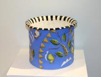 Large blue planter by Theresa  Edwards
