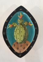 Cacti dish orange flowers by Theresa  Edwards