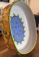 Oval Dish With Black Birds  by Theresa  Edwards