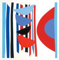 Blue Red Black Vertical Rhythm by Sir Terry Frost