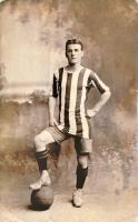 We are the People No.8 Sport. No.1 Footballer 1908 (yellow band) by Tom Phillips CBE RA