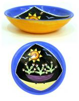 Blue Flowered Bowl by Theresa  Edwards