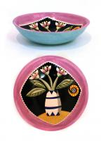Pink Flowered Bowl by Theresa  Edwards