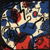 Drei Reiter in Rot, Blau & Schwarz by Wassily Kandinsky