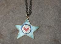Star and heart pendant  by Zsuzsi Morrison