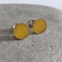 Yellow and gold pair of earrings  by Zsuzsi Morrison