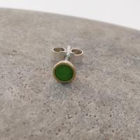 Lime Chartreuse Green Round Stud by Zsuzsi Morrison