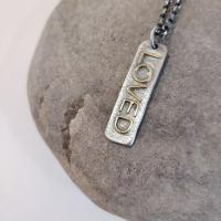 Long Loved Tag Necklace  by Zsuzsi Morrison