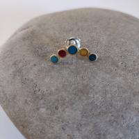 Earring stud - Arc circles  by Zsuzsi Morrison