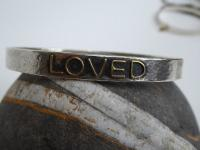 Large Loved Bangle  by Zsuzsi Morrison