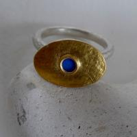 Blue Gold Ring  by Zsuzsi Morrison