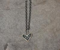 Black dot heart necklace  by Zsuzsi Morrison