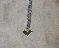 Black heart necklace  by Zsuzsi Morrison