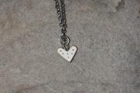 white dot heart necklace  by Zsuzsi Morrison