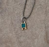 tiny Jade square necklace  by Zsuzsi Morrison