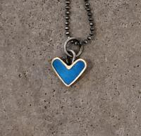 blue heart necklace  by Zsuzsi Morrison