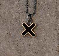 black cross necklace  by Zsuzsi Morrison