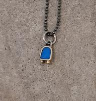 tiny blue bell necklace  by Zsuzsi Morrison