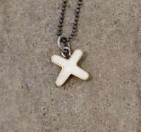 white cross necklace  by Zsuzsi Morrison