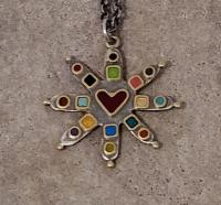 8 point star necklace by Zsuzsi Morrison