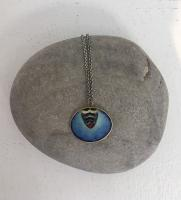 Blue Patterened Bee pendant  by Zsuzsi Morrison