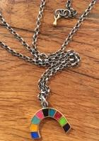 9 Colour Rainbow Necklace by Zsuzsi Morrison