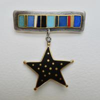 Black Star Star Broach by Zsuzsi Morrison