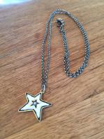 Black/White Star Pendant by Zsuzsi Morrison