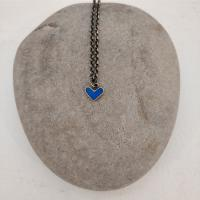 Carribean blue heart necklace  by Zsuzsi Morrison
