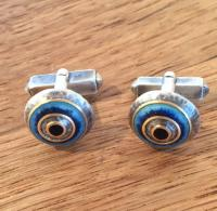 Cufflinks Tonal Blues by Zsuzsi Morrison