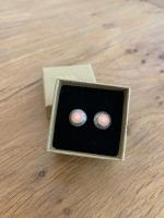 Pale Pink Domed Studs Medium by Zsuzsi Morrison