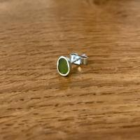 Earring stud - Olive oval  by Zsuzsi Morrison