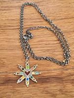Eight Point Large Star Necklace by Zsuzsi Morrison