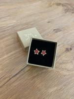 Trans Red Gold Dot Studs  by Zsuzsi Morrison