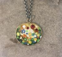 Summer Garden Pendant Necklace  by Zsuzsi Morrison