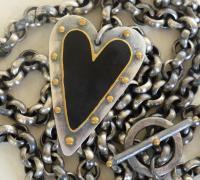 Black Heart Pendant by Zsuzsi Morrison