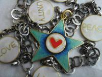 Life Love Unity Hope Peace Necklace by Zsuzsi Morrison