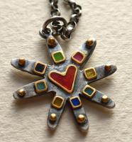 Multicolour Star Pendant by Zsuzsi Morrison