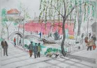 Near the Forbidden City by Chris Orr MBE RA
