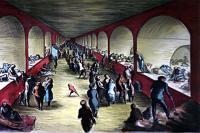 Shelter Scene by Edward Ardizzone CBE, RA