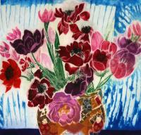 Flowers in Oriental Pot by Jenny Deveraux