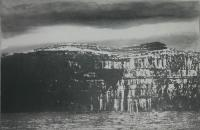 Cliffs of Aran, Black Fort by Norman Ackroyd CBE, RA, ARCA, RE, MA