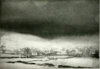 Near Burnsall, Wharfedale by Norman Ackroyd CBE, RA, ARCA, RE, MA