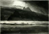 Skellig Sunset II by Norman Ackroyd CBE, RA, ARCA, RE, MA