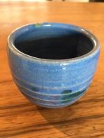 Small Blue pot by Peter Lee