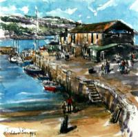 The Cobb, Lyme 3 by Richard Briggs